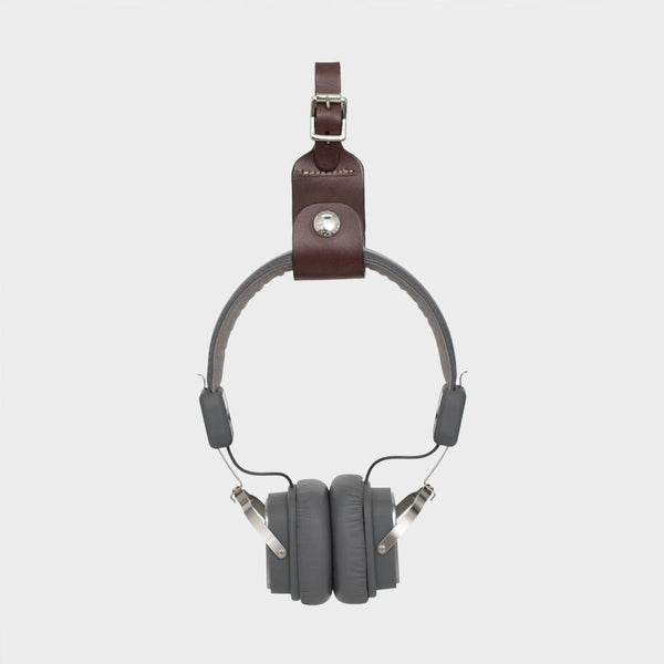 MILLIE Brown Leather Headphone Holder