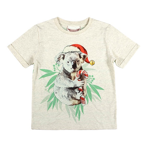 PAPER WINGS | Cuff T-Shirt - Koala Christmas
