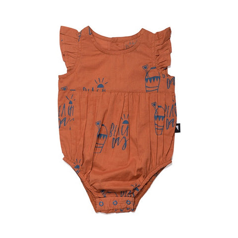 Anarkid Beach Day Woven Bubble Suit - Rust