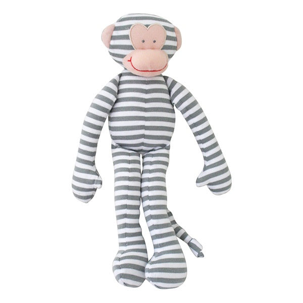 ALIMROSE | Monkey Rattle - Grey Stripe