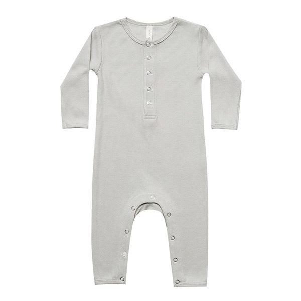 QUINCY MAE | Ribbed Baby Jumpsuit Ash