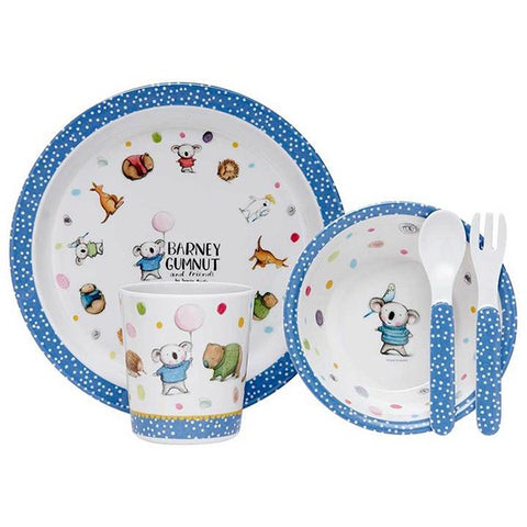 ASHDENE | Barney Gumnut + Friends 5 Piece Kids Dinner Set