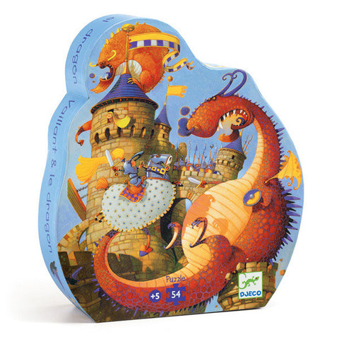 Vaillant and the Dragon - 54pc Silhouette Puzzle