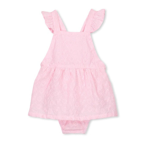 MILKY | Pink Broderie Playsuit