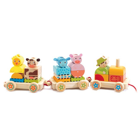 DJECO | Pull Along Wooden Train