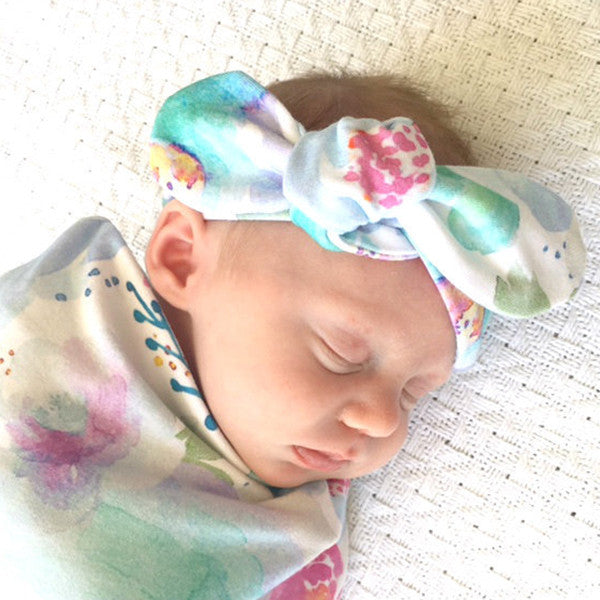 SNUGGLE HUNNY KIDS | Top Knot Headband - Sweet Petal
