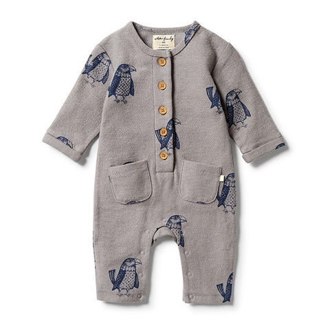 WILSON + FRENCHY | French Terry Slouch Growsuit Mighty Eagle