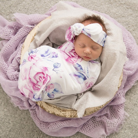 SNUGGLE HUNNY KIDS | Jersey Wrap Set - Lilac Skies