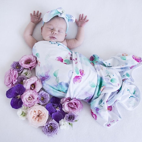 SNUGGLE HUNNY KIDS | Jersey Wrap Set - Sweet Petal