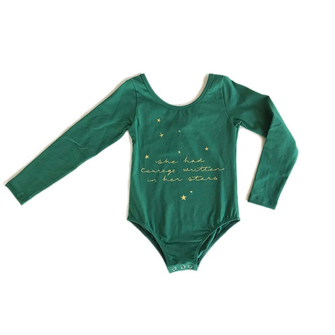 BELLA + LACE | Leotard Star Gazer Deep Green