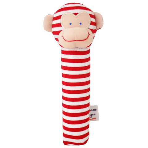 ALIMROSE | Monkey Hand Squeaker - Red Stripe