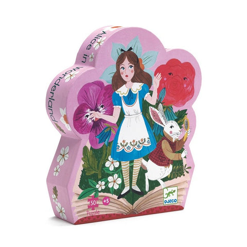 DJECO | Alice In Wonderland - 50pc Silhouette Puzzle