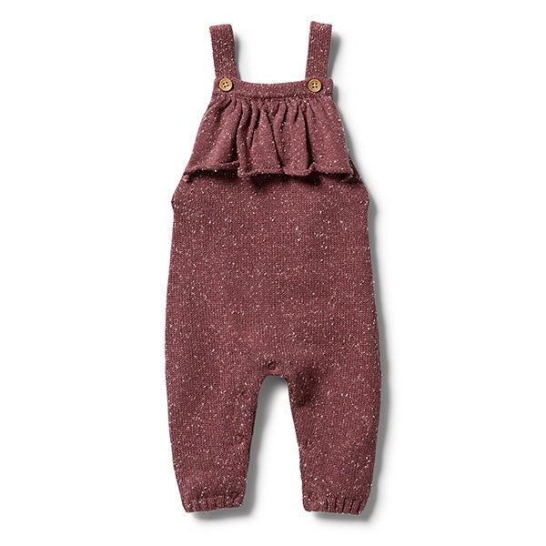 WILSON + FRENCHY | Knitted Ruffle Overall Wild Ginger Fleck