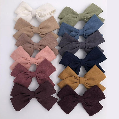 MA MER | Handmade Hair Bows on Hair Clip (various colours available)