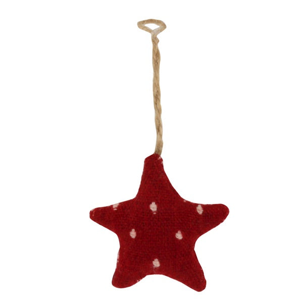 Star Ornament Red Spot