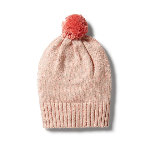 WILSON + FRENCHY | Knitted Hat Flamingo Oatmeal Fleck