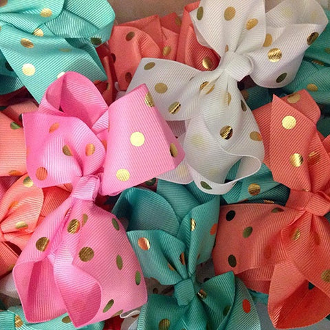 Gold Dot Sister Bows