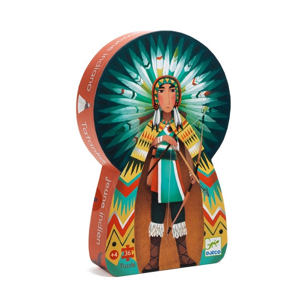 DJECO | Tatanka, Young Indian - 36pc Silhouette Puzzle