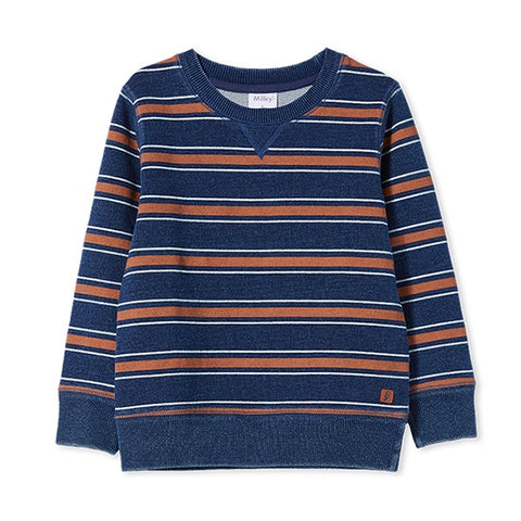 MILKY | Stripe Sweat