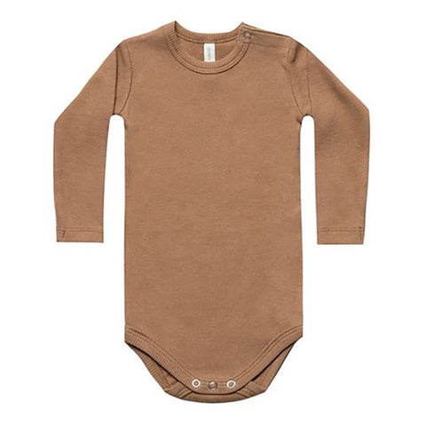 QUINCY MAE | Ribbed Longsleeve Bodysuit Copper