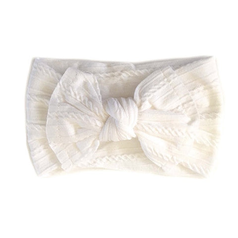 SISTER BOWS | Knotted Headband White
