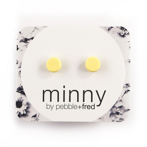 PEBBLE AND FRED | MINNY Studs Yellow