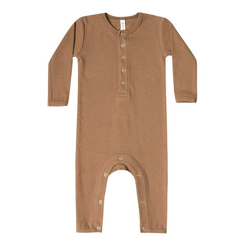 QUINCY MAE | Ribbed Baby Jumpsuit Copper