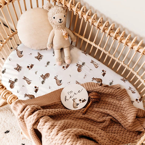 SNUGGLE HUNNY KIDS | Bassinet Sheet & Change Pad Cover - Fox