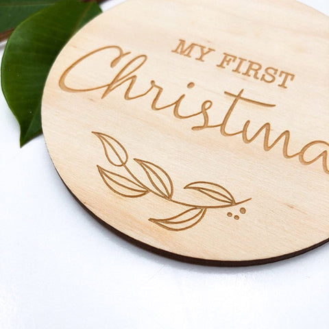 ONE.CHEW.THREE | Baby Milestone Plaque - First Christmas (VARIOUS DESIGNS AVAILABLE)