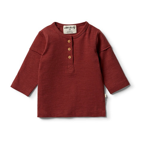 WILSON + FRENCHY | Chilli Henley Long Sleeve Top