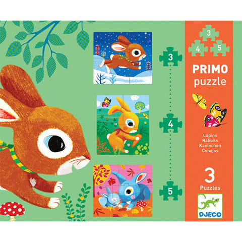 Rabbit 3, 4 and 5 Piece Puzzle