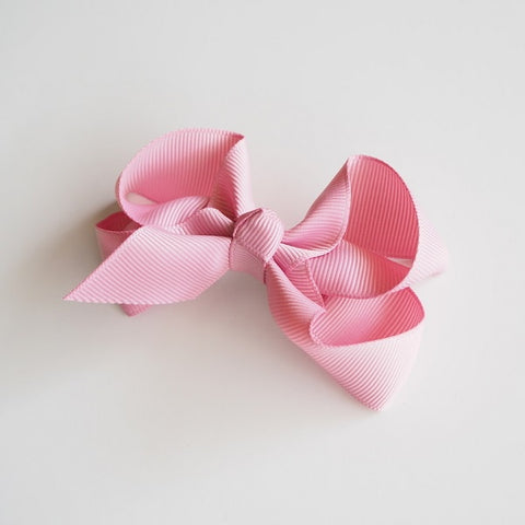 SNUGGLE HUNNY KIDS | Dusty Pink Clip Bow - Medium