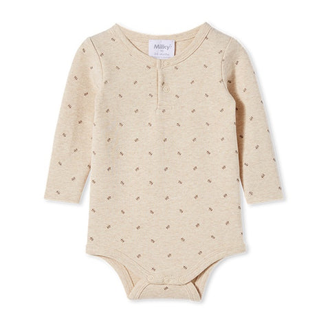 MILKY | Rib Bubbysuit Natural Marle