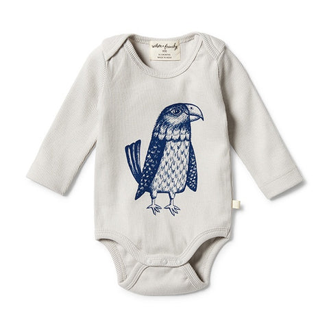 WILSON + FRENCHY | Organic Rib Envelope Bodysuit Mighty Eagle