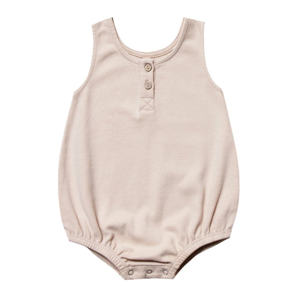 QUINCY MAE | Sleeveless Bubble Bodysuit Rose