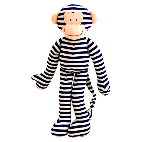 ALIMROSE | Monkey Rattle - Navy Stripe