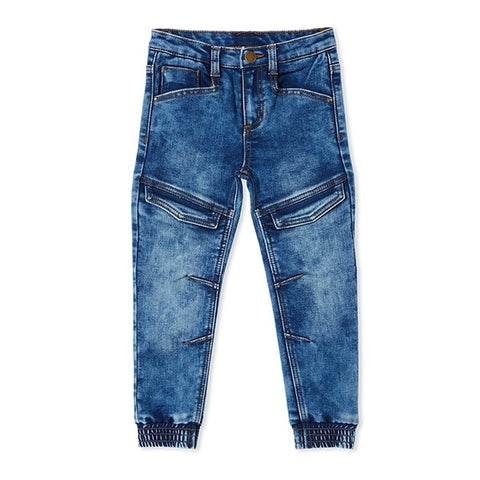 MILKY | Knit Denim Joggers