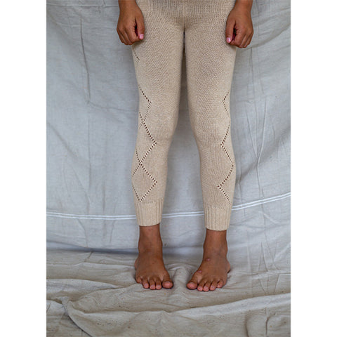 BELLA + LACE | Knitted Leggings Porridge & Sugar