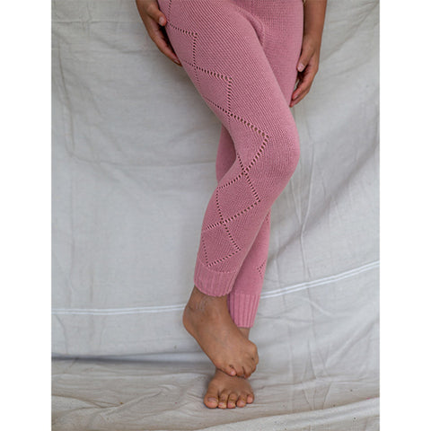 BELLA + LACE | Knitted Leggings Dusty Rouge