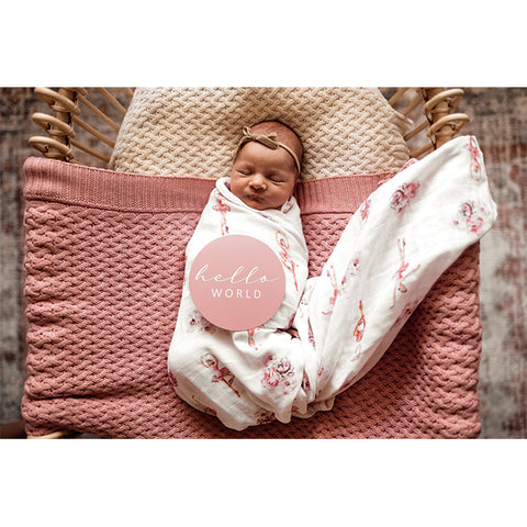SNUGGLE HUNNY KIDS | Diamond Knit Baby Blanket - Rosa