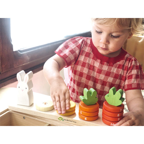 TENDER LEAF TOYS | Counting Carrots Wooden Stacker