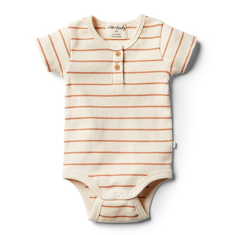 WILSON + FRENCHY | Toasted Nut Stripe Bodysuit