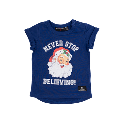 ROCK YOUR BABY | Never Stop Believing Baby T-Shirt