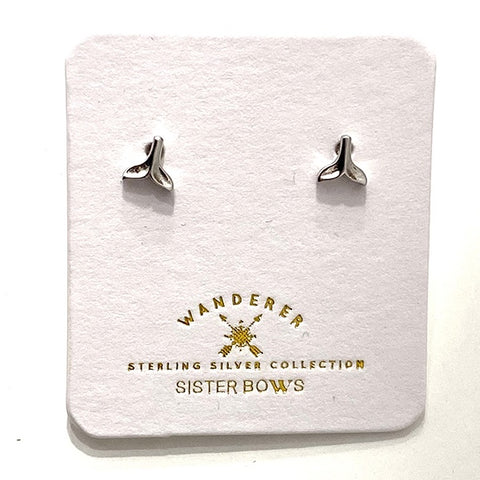 SISTER BOWS | Sterling Silver Petite Mermaid Tail Studs