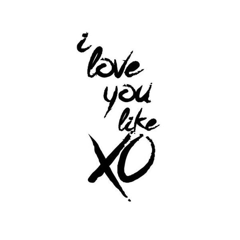 I love you like XO | Wall Print