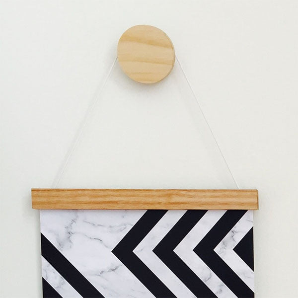 Wooden Print Hanger - Single