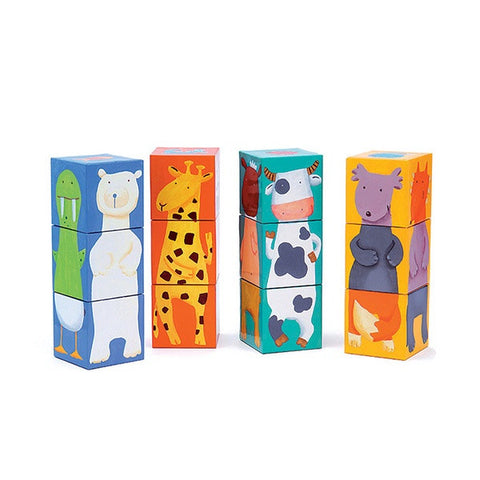 12 Colour Animal Cubes
