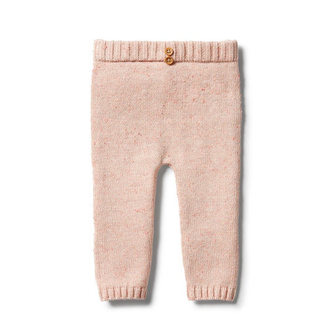 WILSON + FRENCHY | Knitted Legging Flamingo Oatmeal Fleck