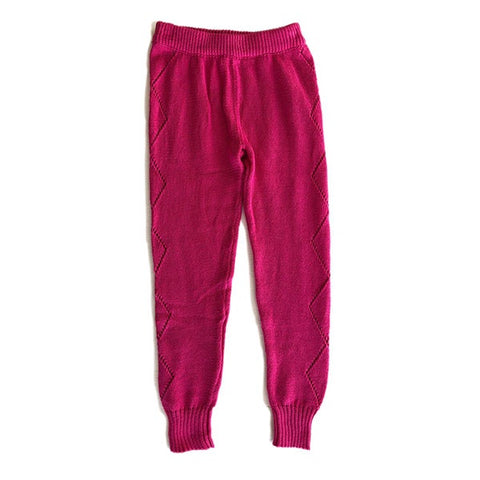 BELLA + LACE | Knitted Leggings Electric Pink