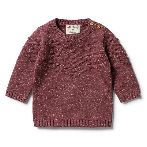 WILSON + FRENCHY | Knitted Bauble Jumper Wild Ginger Fleck